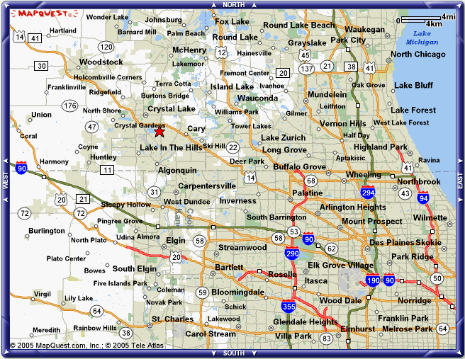 Crystal Lake Illinois Map.Ability Contact Us